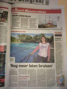 Flevoparkbad - Nog meer laten bruisen - Telegraaf Amsterdam p5 don 23 juli 2015